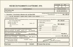 recibo pagamento autonomo