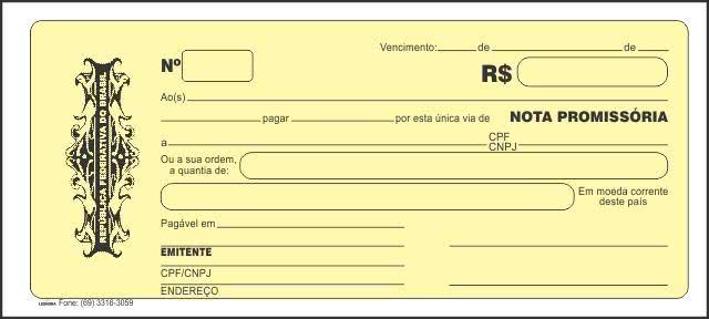 Formulário Nota Promissória