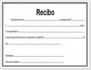 modelo de recibo simples