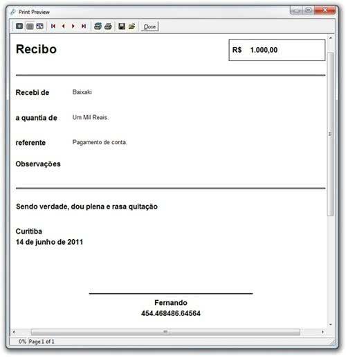 Recibo Online Grátis Modelos De Recibo Para Imprimir