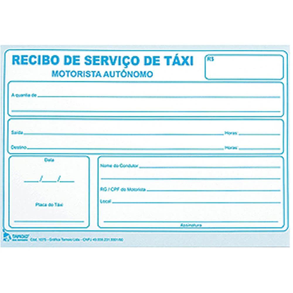 Recibo De Taxi En Blanco