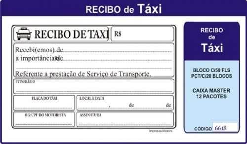Recibo de Taxi 5