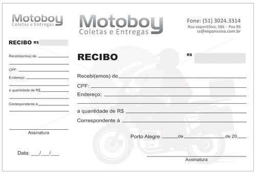 Recibo para Motoboy 1