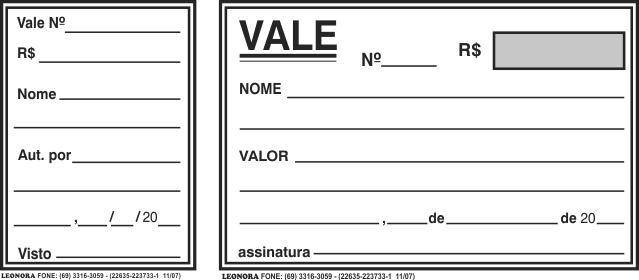 Recibo para Vale 1