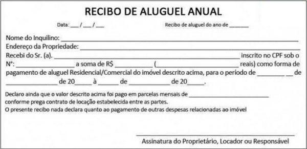 Recibo De Aluguel De Imóveis Modelos Imprimir Preencher